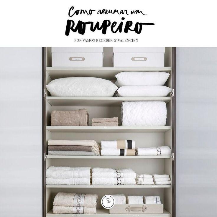 Neste post contamos em detalhes como arrumar um roupeiro para que roupa de cama e banho fiquem sempre em dia, confortáveis e limpas!