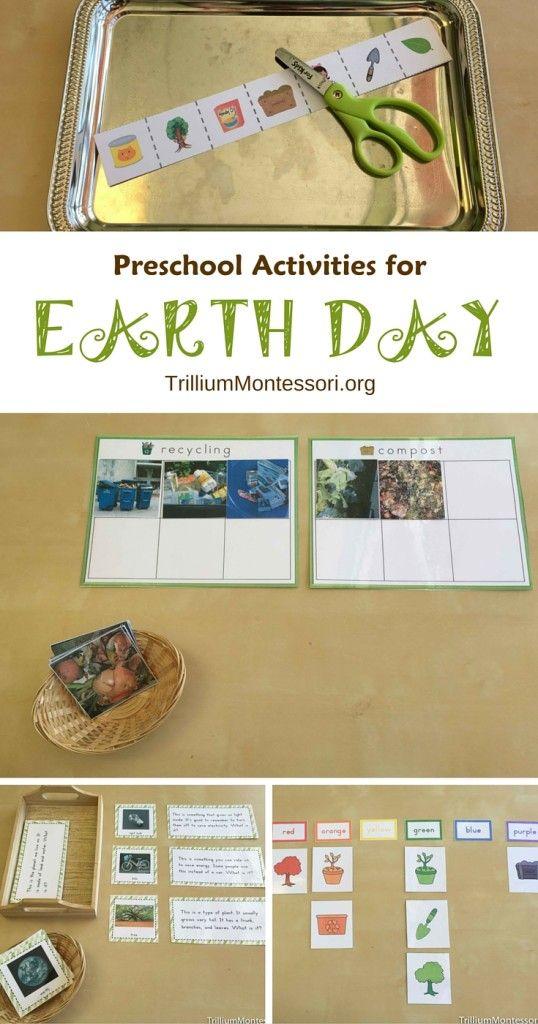 Montessori Earth Day activities for preschool