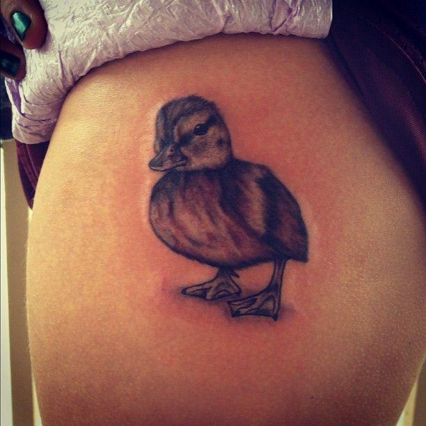 Leg small duck tattoos designs