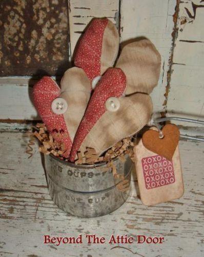 primitive valentine gathering old quilt hearts vintage sifter - Vintage Valentine Decorations