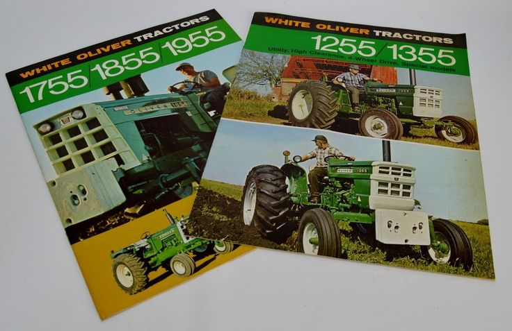 Vintage Oliver 1755 1855 1955 1255 1355 Lot of 4 Tractor Sales Brochures #WhiteOliver