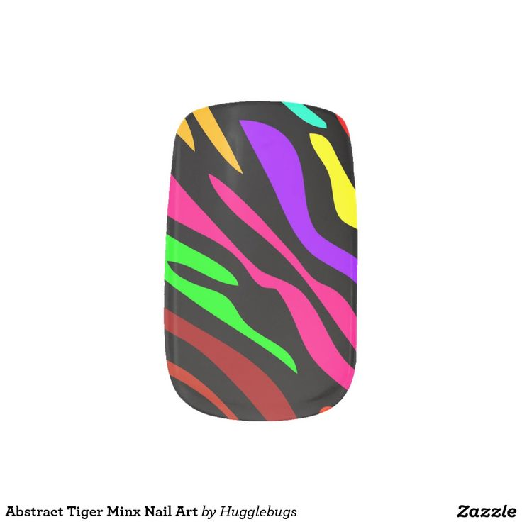 Abstract Tiger Minx Nail Art