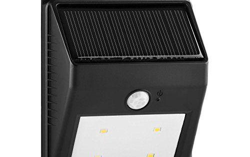 Lightcraft Solarlux – Lampe solaire d'extérieur étanche avec détecteur de mouvement (4 LED, portée de 3m, sans câble) – blanc chaud:…