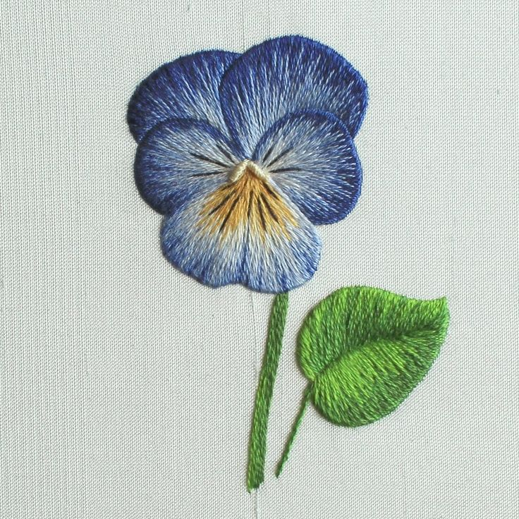 'Pansy' Silk Shading Embroidery Kit