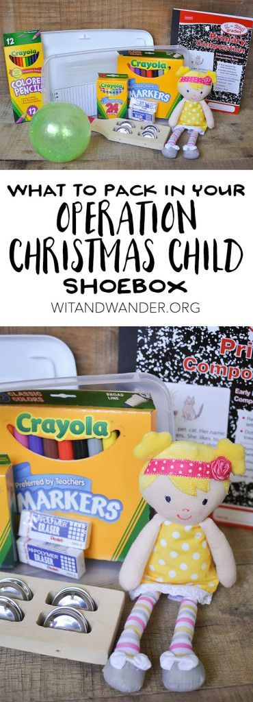 What to Pack (and what to avoid packing) in Your Operation Christmas Child Shoebox | Wit & Wander