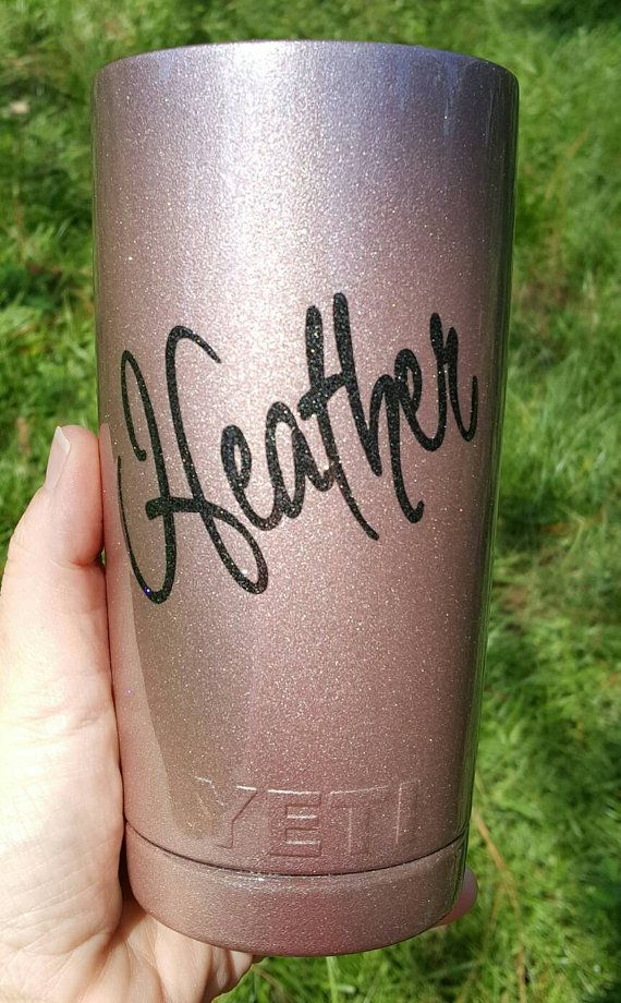 20oz or 30oz YETI Rose gold powder with by CustomTexasCups