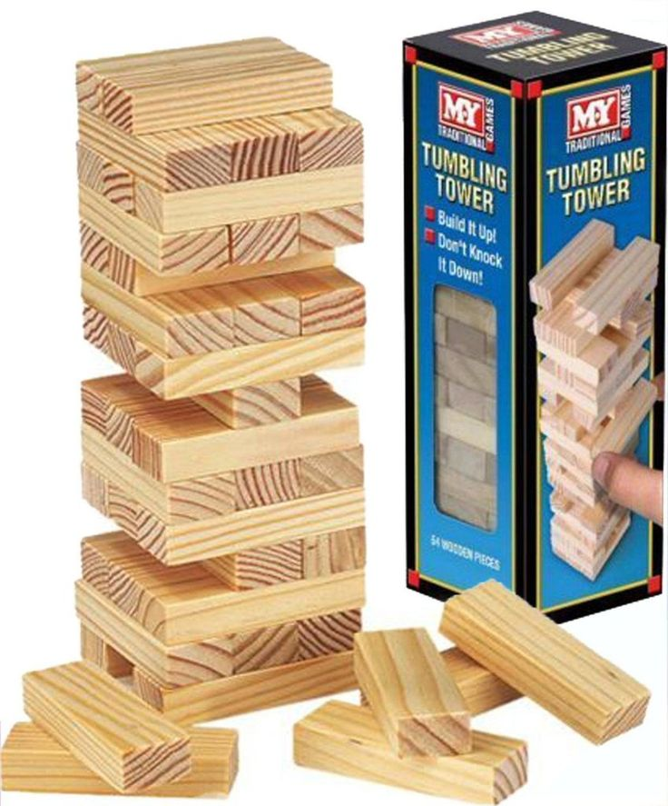 Wooden Towering Blocks - Tumbling Tower. Visit us now and ENJOY 10% OFF + FREE SHIPPING on all orders