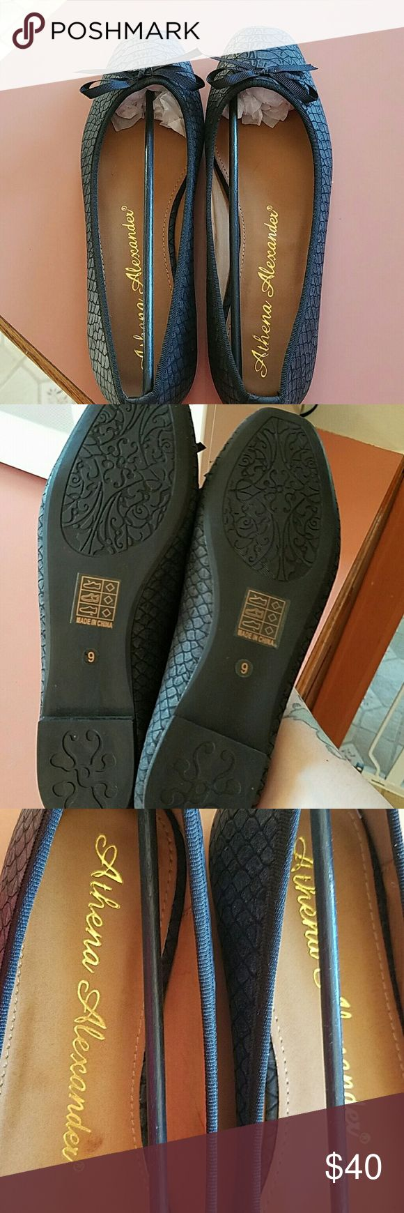 Athena Alexander Brand new beautiful black slip on square ballet flats Athena Alexander  Shoes Flats & Loafers