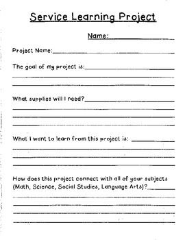 Service learning projects essays