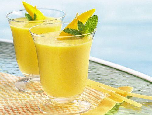 Creamy Mango Smoothies: Protein Shakes Recipes, Mango Smoothie, Cups, Peaches Smoothie, Hot Body, Blenders, Smoothie Recipes, Low Fat Smoothie, Creamy Mango