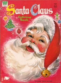 I think I had a coloring book just like this when I was a young girl. I loved Christmas coloring books more than any other kind. I still have coloring books today.