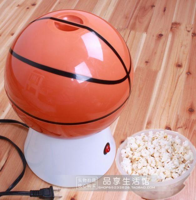 Детский подарок внутренние электрические баскетбол форма воздухонагревателе попкорна попкорн машины бесплатная доставка, С ес подключить белый цвет