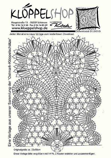 """Bobbin Lacemakers Association """"Ibn al Baytar"""" pattern for lace - www.kloeppelshop.de"""