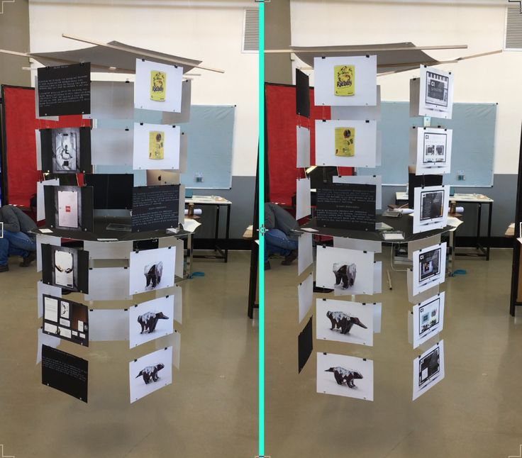 2016 Hanging 3D creative portfolio exhibition. An exhibition of 7 of my best designs.