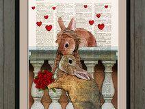 Coniglio illustrazione, pagina dizionario, #012