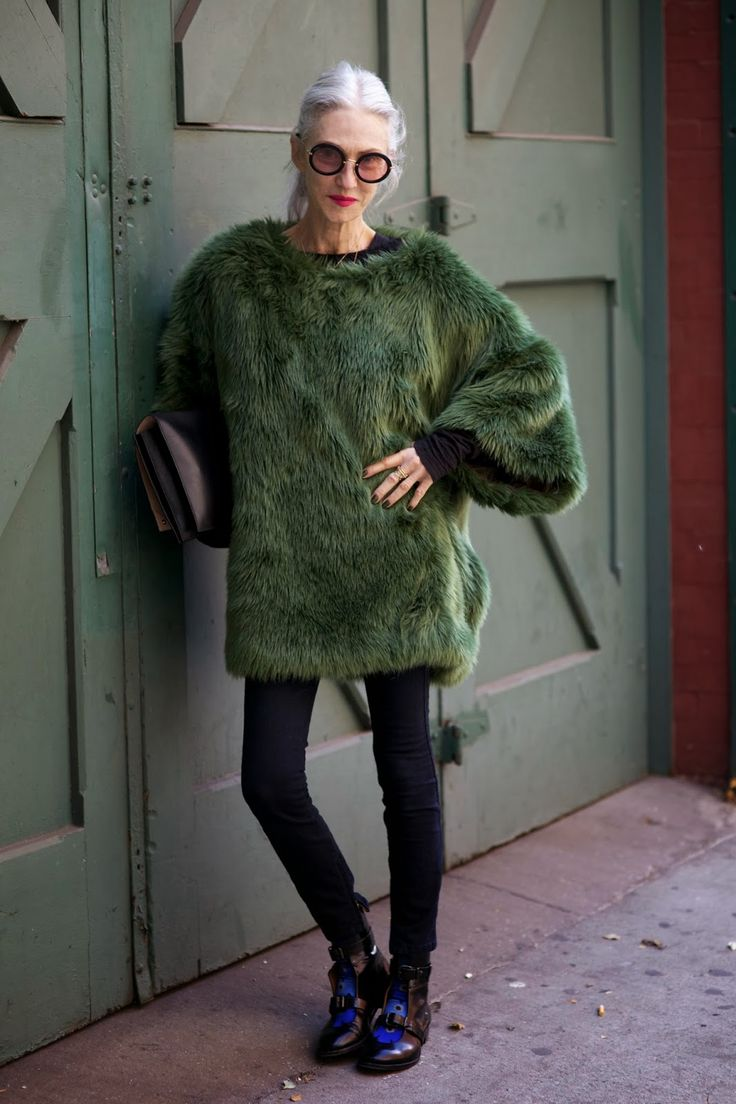 I'm not sure I would wear this sweater but it is kind of awesome!!!  Linda Rodin At The Manhattan Vintage Sale