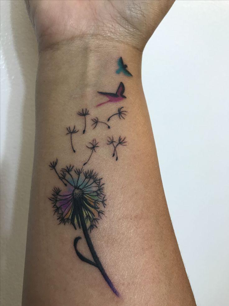 Dandelion Puff Tattoo on wrist
