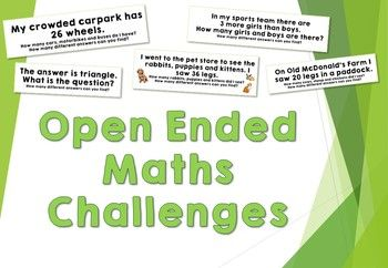 These Open Ended Maths Problems will get your students thinking! What strategies can they use to find their answer? How many different answers can they come up with? How will they record their answers?