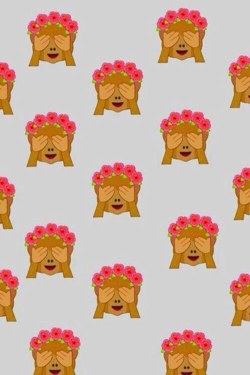 fond avec des emojis singe
