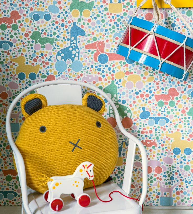 How To Style Nurseries | Brio Dots Wallpaper by Borastapeter | Jane Clayton