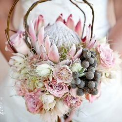 Stunningly soft & rustic chic protea bouquet (& florals)
