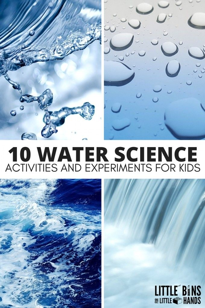 Fun water science activities for kids that are perfect for home, school, or camp. Engaging ways to explore water through science, technology, engineering, and math with preschool, kindergarten, and early elementary age kids.