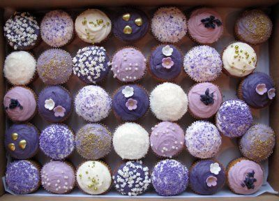 Crumbs and Doilies Cupcakes blog: Purple, lilac and gold ...