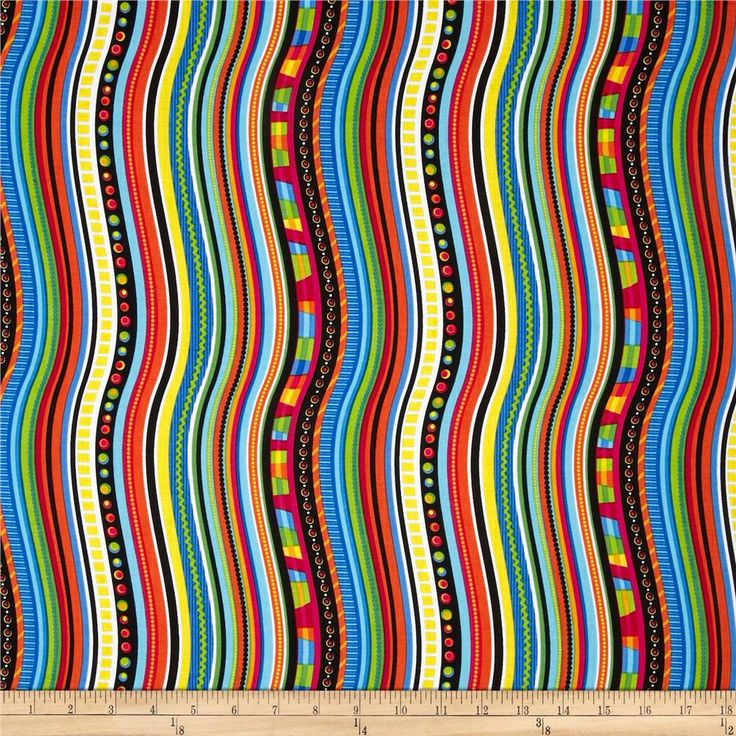 Timeless Treasures Happy Bugs Wavy Stripe Multi Home