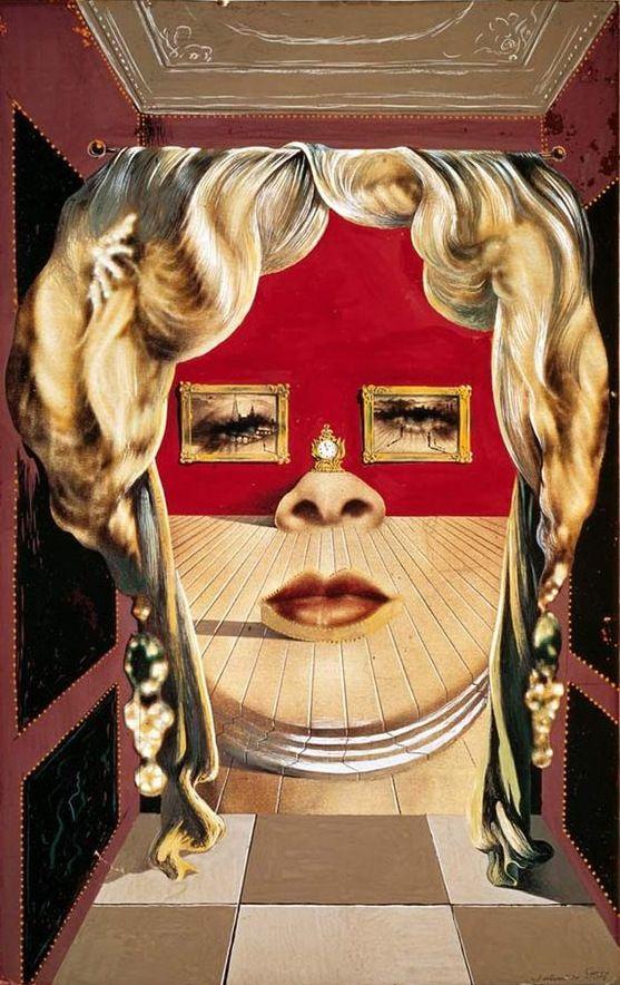 Divano Labbra Di Mae West.Il Volto Di Mae West Painting By Salvador Dali Dali