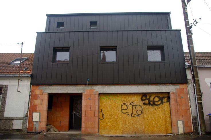 Vmzinc joint debout avec rupture de dimensions Architecture
