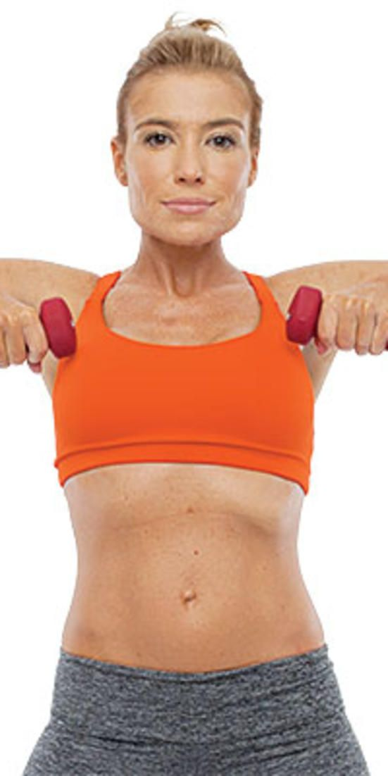 Tone your arms and shoulders  - Tracy's secret to trim, toned arms? Hint: It's part strength, part cardio.
