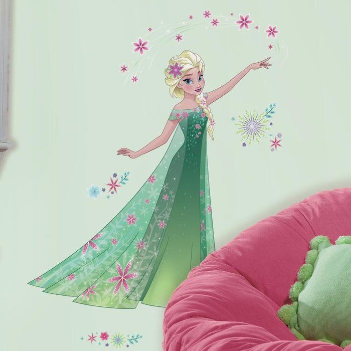 Help Elsa plan the perfect day for her sister Anna's birthday with their Disney Frozen Fever Elsa giant wall decals. Easy to remove and reposition, add these wall stickers to a bedroom, playroom or even a Disney Frozen Fever-themed birthday party. To apply, remove each pre-cut wall sticker from the backing and apply to the surface. That's it!