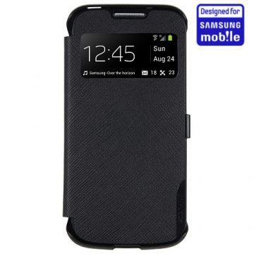 Husa Anymode View Neagra Samsung Galaxy S4 Mini