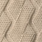 Free pattern on different cable knit. Square cables.  Just like the throw we had when I was a kid!  Same color too!