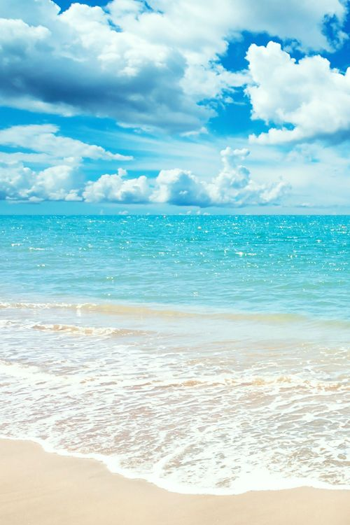 Beautiful blue ocean and white sand