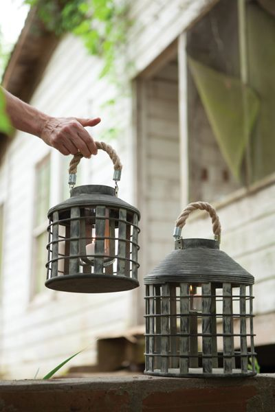 "Set/2 Dark Grey Lanterns Dimensions (in):large 10""""d x 12""""tsmall 8""""d x 8""""tBy Kalalou - Kalalou is a wholesale manufacturer of distinctive home & garden decorative accessories.Usually ships within 3"