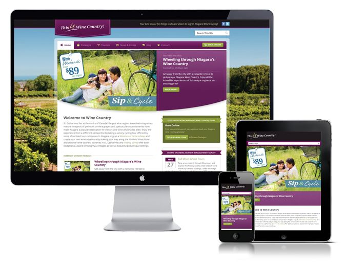 Extreme Technology created a new website for This Wine Country, which is a site focused on tourism in Niagara Wine Country. This site has everything you need to plan a trip to Niagara!