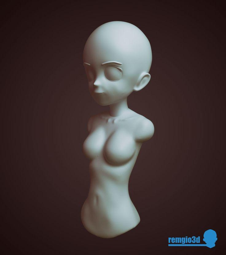 Female Manga body study, Giorgos Remvaltados on ArtStation at https://www.artstation.com/artwork/YxxKq