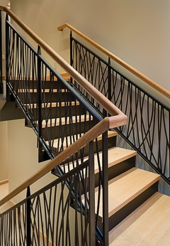 Wrought Iron Staircase modern  by FINNE Architects