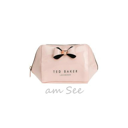 TED BAKER ポーチ 【SALE♪】TED BAKER リボン付きコスメポーチ ピンク&黒(2)