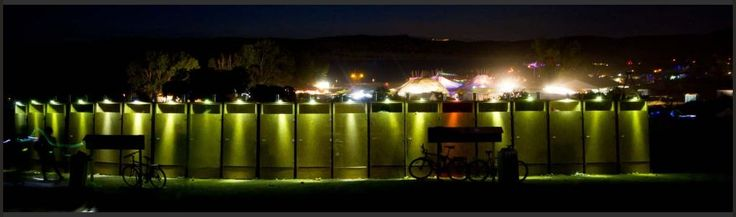 160 Long Term Composting toilets at the BOOM festival -- odour-free, clean, quiet, loved by everyone at the festival...