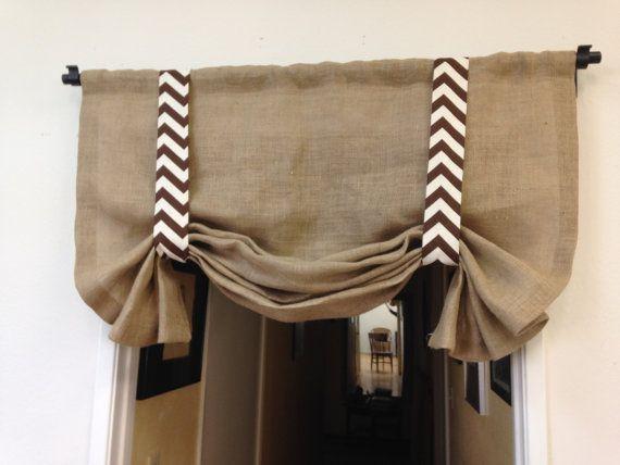 Cortinas de arpillera corta cortinas cenefa de la por pillowpuff