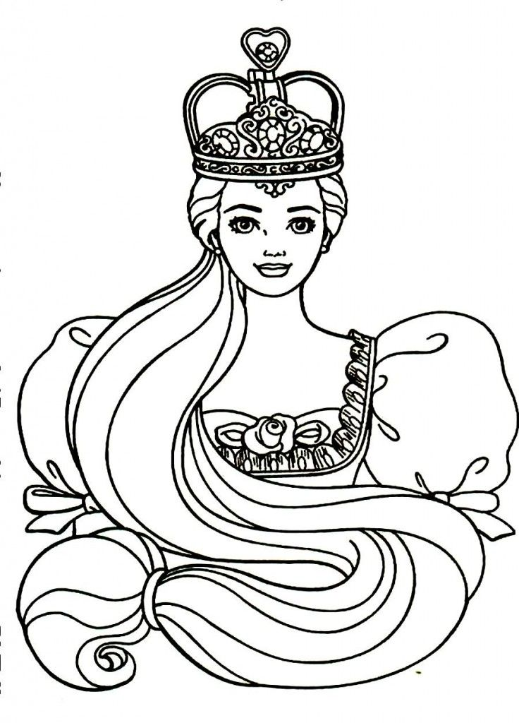 Desenhos Da Barbie Rapunzel Para Imprimir With Images Coloring
