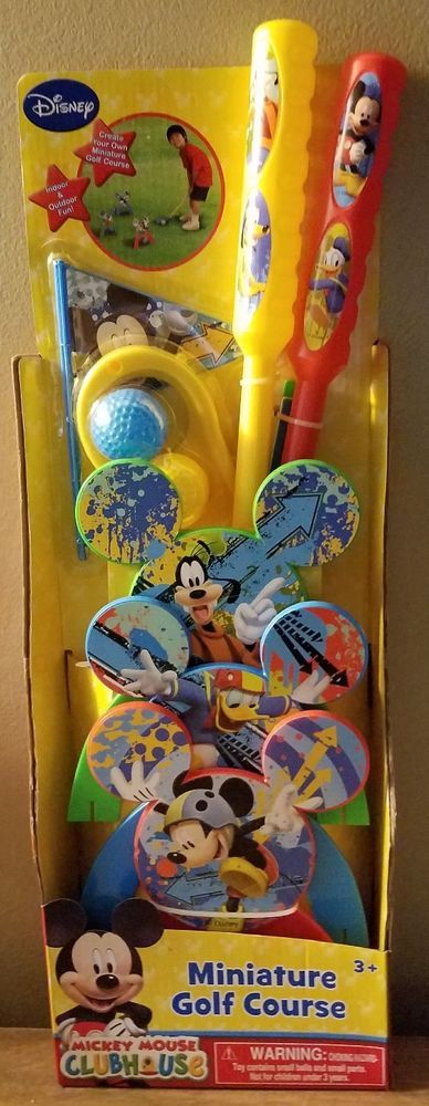 Disney Jr Mickey Mouse Clubhouse Miniature Golf Course Game Toy Set 2 Clubs | Toys & Hobbies, Games, Other Games | eBay!