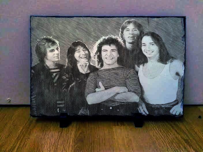 "Journey Band Sketch Art Portrait on Slate 12x8"" Rare Collectables memorabilia"