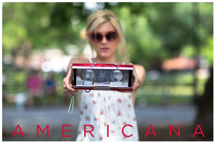 AMERICANA lookbook for Stellé Audio Couture featuring Sophie Sumner