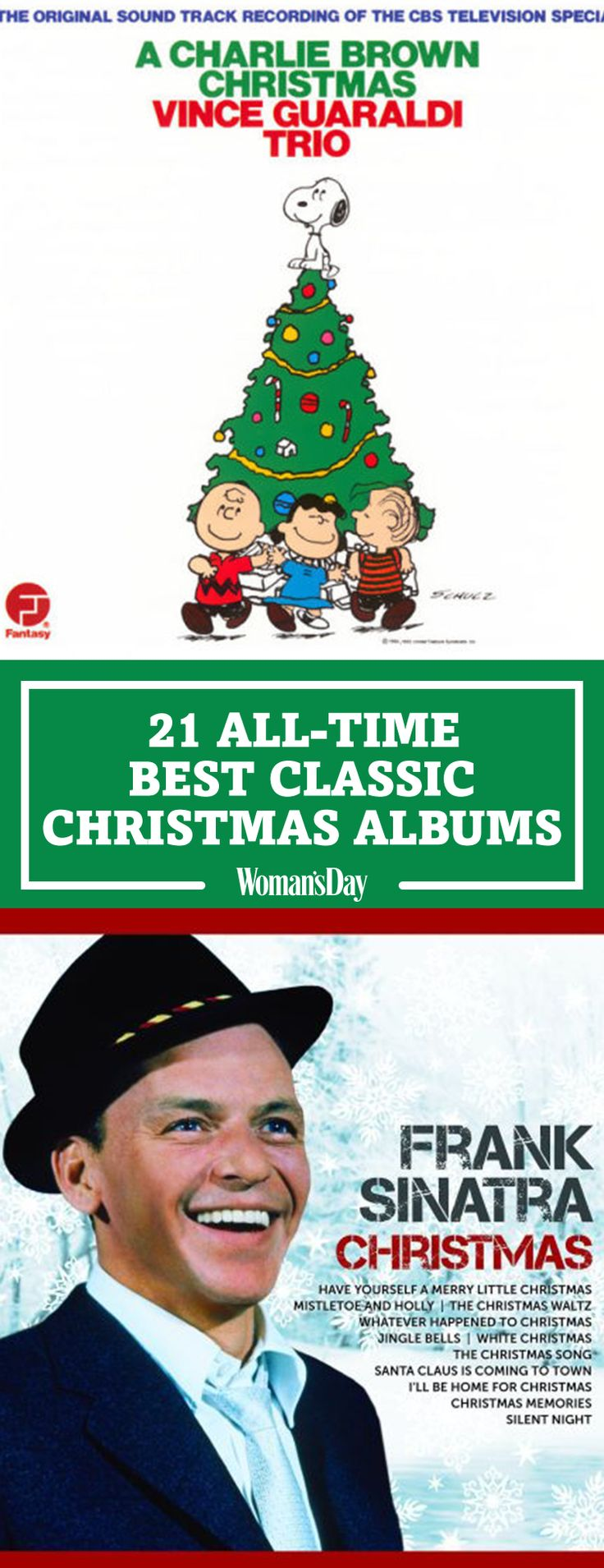 Swing into the holiday season with our list of our favorite holiday classic music albums. A Charlie Brown Christmas has all of the songs you love and know. Turn on Frank Sinatra Christmas at your holiday parties to get guests in the Christmas mood.