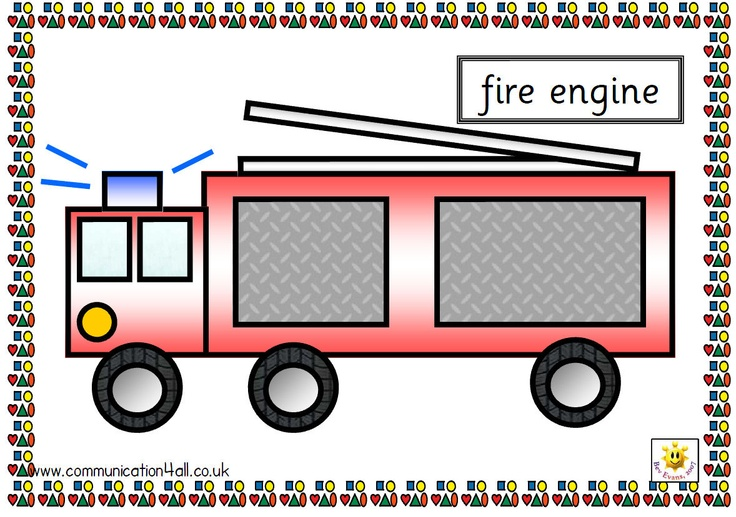 A4 pdf with seven vehicles fetured made from basic shapes. Vehicles are car, van, boat, ship, aeroplane, tractor and fire engine. Shapes are textured for a degree of realism and captions are in Sassoon Font