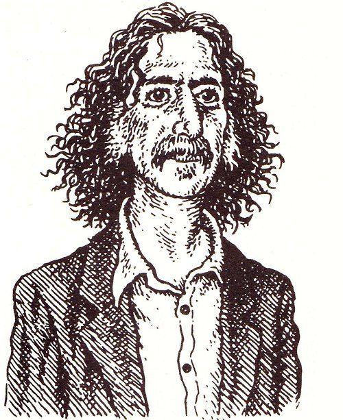Robert Crumb - Portrait of Frank Zappa for The New Yorker - 1992.