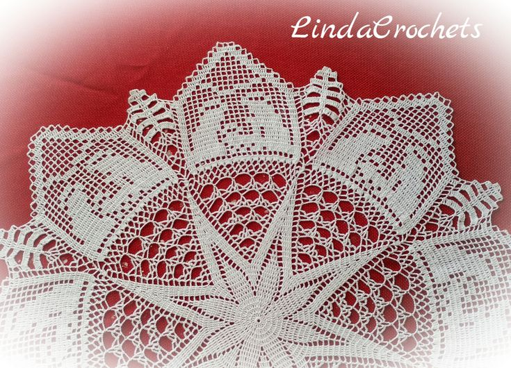 Just took my last Christmas theme doily off the blocking board. (Only made a couple Christmas theme thread items this year) I found this pa...